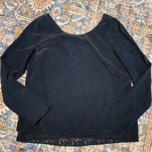 Madewell x Sezane silk and lace shirt